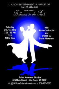 dance with passion, ballroom in the rock, david alexander, L. A. Rose Entertainment, Ballet Arkansas